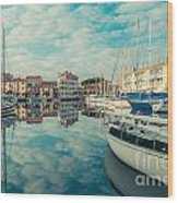 Harbour Of Grado Wood Print