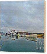 Harbour Overview 2 - Lyme Regis Wood Print