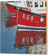 Harbour Reds Wood Print