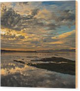 Harbour  Sunset Wood Print by Rod Sterling