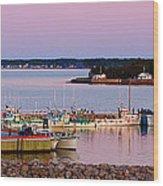 Harbour Sunset Wood Print