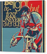 Hard As Nails Vintage Cycling Poster Wood Print by Sassan Filsoof