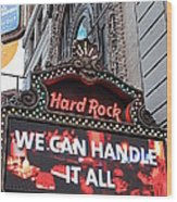 Hard Rock Cafe New York Wood Print