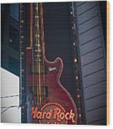 Hard Rock Guitar Nyc Wood Print