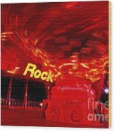 Hard Rock Hard Ride Wood Print