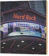 Hard Rock Marquee Nyc Wood Print
