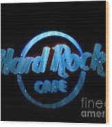 Hard Rock Neon In Space Wood Print