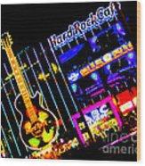 Hard Rock Vegas Wood Print