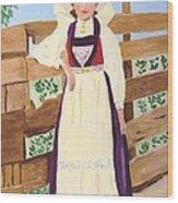 Hardanger Girl Wood Print