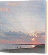 Hardings Beach Wood Print