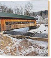 Hardwick Covered Bridge  Wood Print