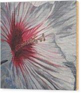 Hardy Hibiscus Wood Print