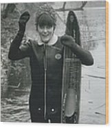 Hardy Jeannette Breaks The Ice At Rickmansworth Aquadrome Wood Print