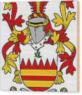 Hare Coat Of Arms Irish Wood Print