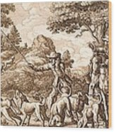 Hare Hunting, Engraved By Wenceslaus Wood Print