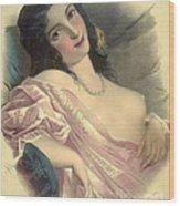 Harem Girl 1850 Wood Print