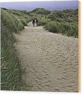 Harlech Dunes Wood Print