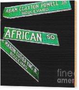 Harlem Crossroads Wood Print