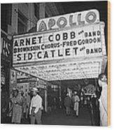 Harlem's Apollo Theater Wood Print