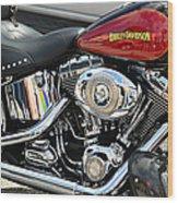Harley Chrome Wood Print