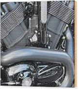 Harley Close-up Engine Close-up 1 Wood Print