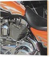 Harley Close-up Orange 1 Wood Print