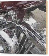 Harley Close-up Possessed Wood Print