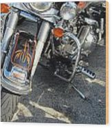 Harley Close-up W Shadow 1 Wood Print