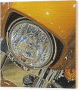 Harley Close-up Yellow 2 Wood Print