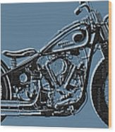 Harley-davidson And Words Wood Print