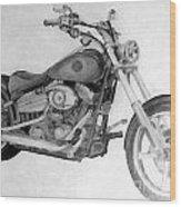 Harley Davidson Big Boy Toy Wood Print