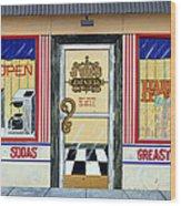 Harley Davidson Cafe Wood Print