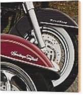 Harley Davidson Heritage Softail And Road King Wood Print