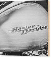 Harley Davidson Logo On Street Glide Bike Orlando Florida Usa Wood Print