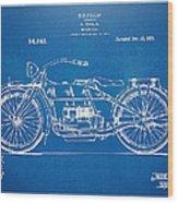 Harley-davidson Motorcycle 1919 Patent Artwork Wood Print by Nikki Marie Smith