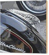 Harley Davidson Motorcycle American Eagle Fender Ornament Usa Wood Print