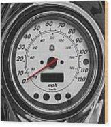Harley Davidson Motorcycle Speedometer Harley Bike Bw  Wood Print