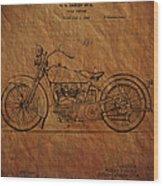 Harley Davidson Patent  Wood Print