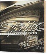 Harley Davidson Sportster 883 Wood Print