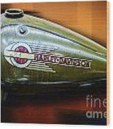 Harley-davidson Tank Logo Wood Print