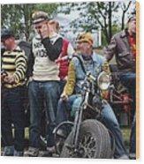 Harley Gang Wood Print