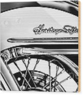 Harley Heritage Softail Monochrome Wood Print