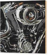 Harley Wood Print by Joe Bonita