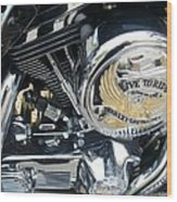 Harley Live To Ride Wood Print