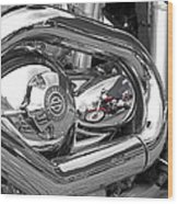 Harley Reflections Wood Print