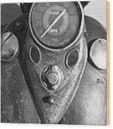 Harley Speedometer Wood Print