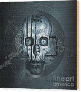 Harmagedon Blue-gray Wood Print