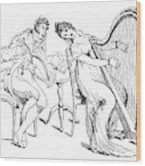Harmony Before Matrimony, 1886 Wood Print