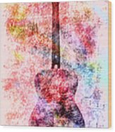 Harmony Guitar Notes Wood Print