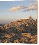 Harney Peak At Dusk Wood Print
